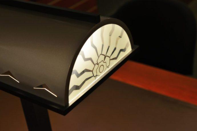 detail of art deco lamp